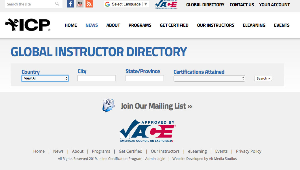 Global Instructor Directory