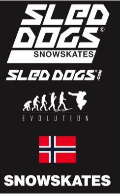 Sled Dogs Black Logo