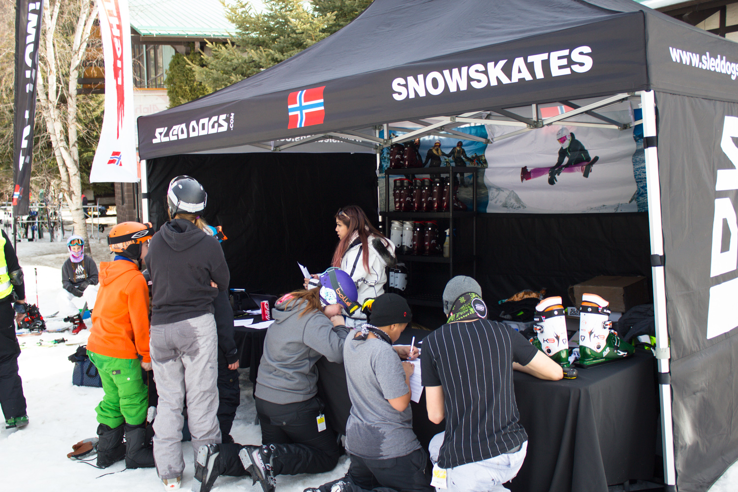 Sled Dogs Booth